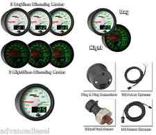 GlowShift MaxTow Double Vision White 100 PSI Fuel Pressure Gauge MT-WDV11