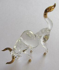 Glasfiguren-23-Karat-vergoldeter-Stier-handarbeit-feinste-Glasblaeserkunst