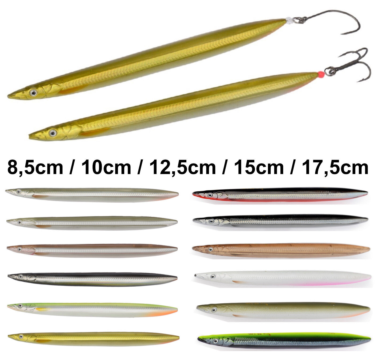 Zubehör UV 150mm Savage Gear 3D Line Thru Sandeel 15cm 27g Sandaal 6 Farben