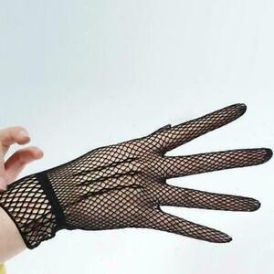 Women-039-s-Wrist-Wedding-Gloves-Bridal-Party-Prom-Fishnet-Gloves-P3N9-B0U7-Y3G8