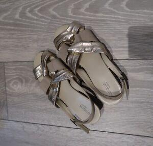 Footglove Wide Fit 5 Sandals Gold M\u0026S
