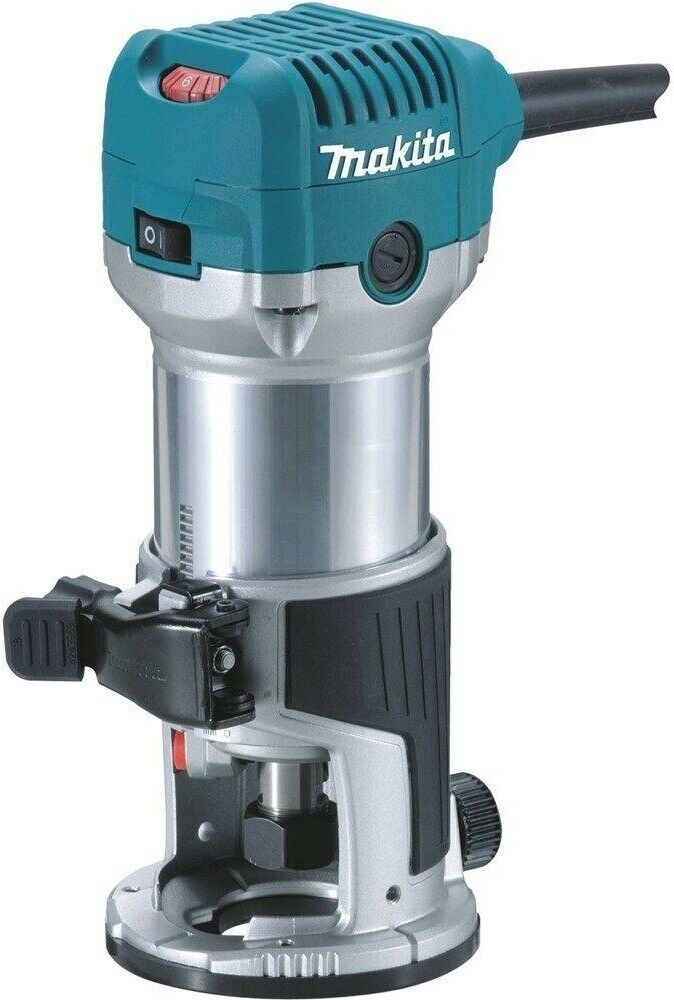 Compact Router Corded Makita 1.25 HP Electric Power Tool Wood Working Fixed Base