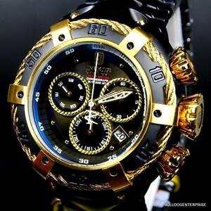 Negro Reserve Reloj Rayo 52mm Perno Dorado Jt Invicta De Nuevo Color Detalles Jason Taylor QhCxtsrd