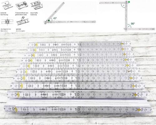 10 x ADGA Qualitäts Gliedermaßstab 2m Holz Winkelübersicht 90° Rastung Dezimeter