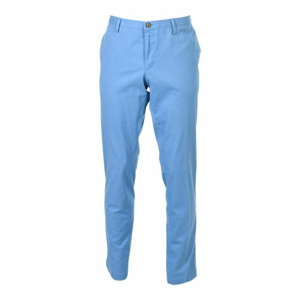 HUGO BOSS Trousers Blau Cotton Blend Slim Fit Größe 54 HC 298