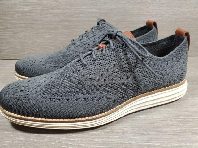 Cole Haan Men's Sz 8 Original Grand Stitchlite Wingtip Shoes Grey C27961 M (a15