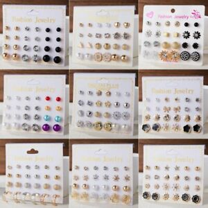 12-Pairs-Fashion-Rhinestone-Crystal-Pearl-Earrings-Set-Women-Ear-Stud-Jewelry