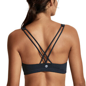 Women-039-s-Light-Support-Cross-Back-Wirefree-Removable-Cups-Yoga-Sports-Bra