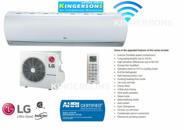 18000 BTU LG Ductless Mini Split Air Conditioner SEER 18 COOL/HEAT ENERGY  STAR