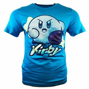 Men-039-s-T-shirt-Mad-KIRBY-NINTENDO-Tee-Vintage-Official-Licensed-Product-NEW