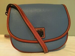 Dooney-and-Bourke-Blue-Hallie-Crossbody-Purse-Handbag-Satchel-Womens-Fashion