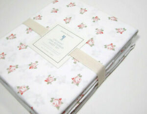 Pottery-Barn-Kids-Organic-Cotton-Lina-Roses-Bud-Flowers-Twin-Sheet-Set-New