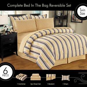 Details about tommy bed in a bag comforter sheet set bed skirt shams