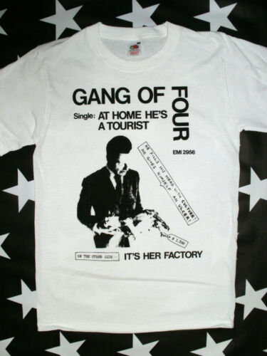 2XL delta 5 mekons Gang Of Four post punk rock screen printed t-shirt sizes S