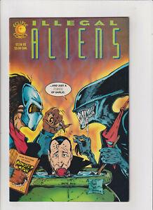 Illegal-Aliens-VF-NM-9-0-Eclipse-Comics-1992-Dracula-Predator-Aliens-Wolfman