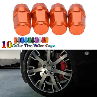4PCS Car Wheel Tyre Valve Stems Air Dust Cover Screw Cap Car Accessories Chrome