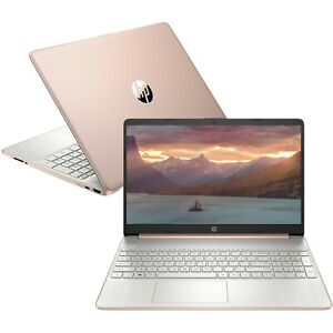 NEW-HP-15-6-HD-AMD-Quad-Core-Ryzen-5-3-7GHz-256GB-SSD-8GB-RAM-Webcam-Win10-Gold