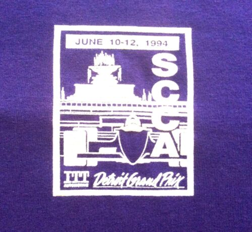 1994 ITT Automotive Detroit Grand Prix Volunteer T-Shirt - Purpl