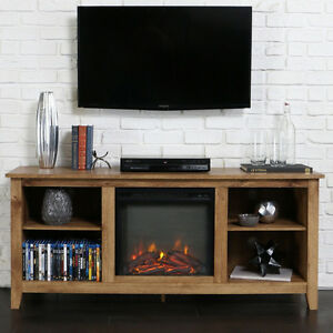 Four-Shelf-Electric-Fireplace-Console-Table-TV-Stand-Home-Living-Room-Furniture