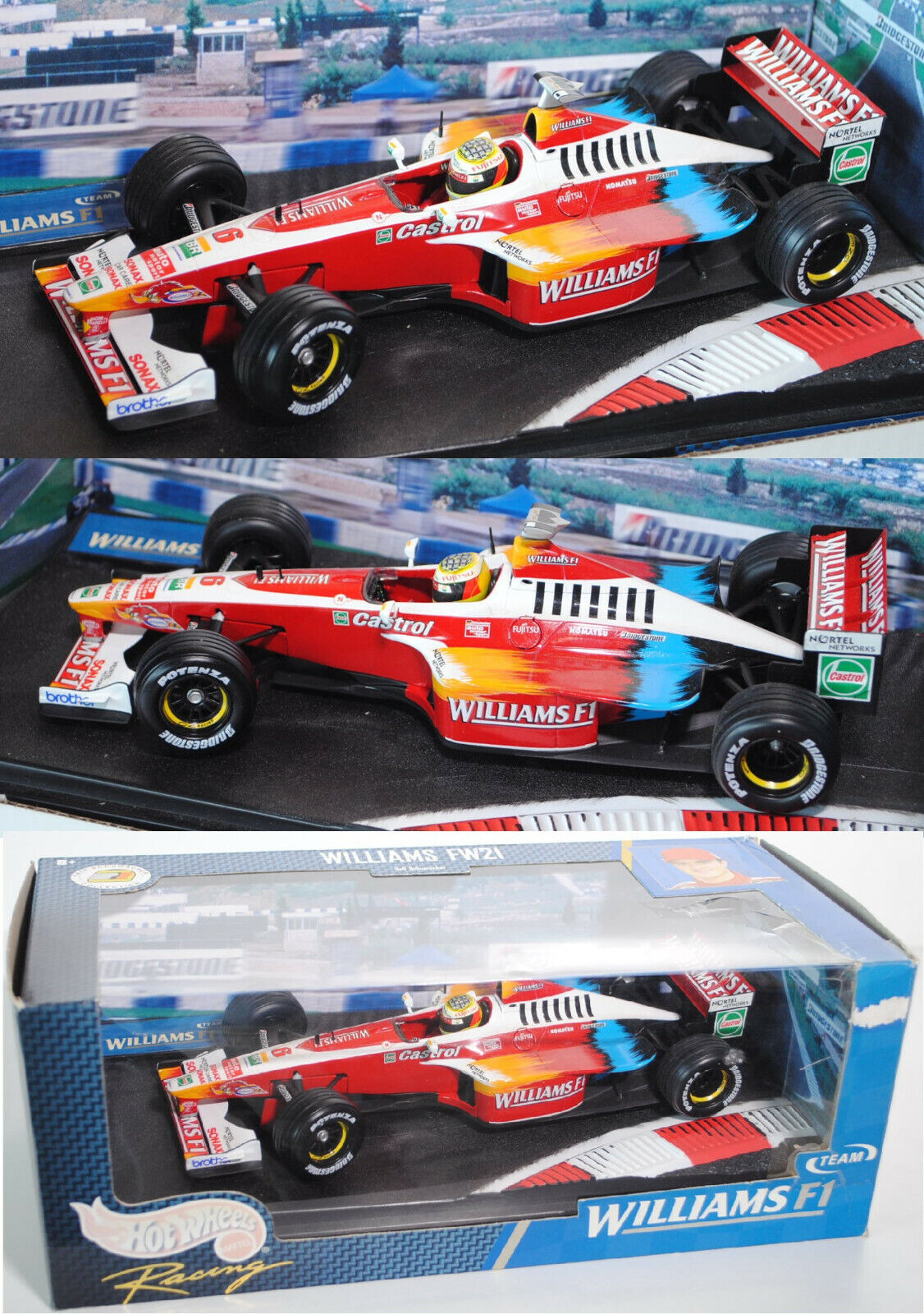 Hot Wheels racing 24622 williams fw21, fw21, fw21, ralf schumacher, 1 18, embalaje original  tienda en linea