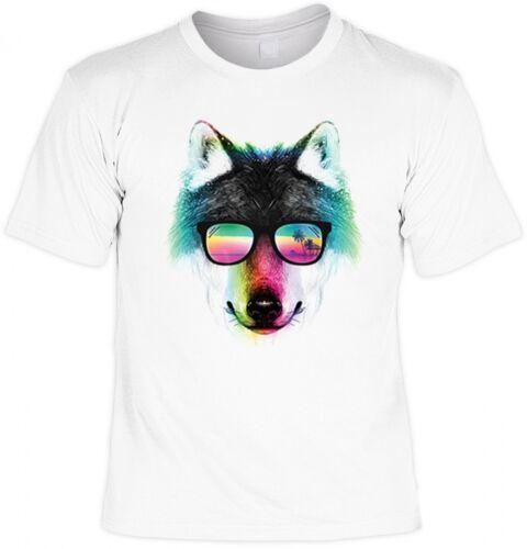 Motif t-shirt-été loup lunettes de soleil-Créative Cadeau Cool en couleur loup