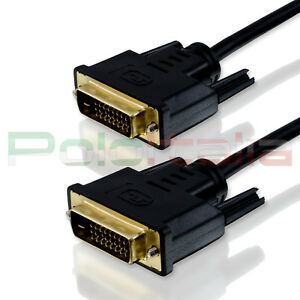 Cavo 1,5m DVI-D dual link 24+1 maschio oro per monitor lcd computer pc video tv