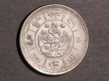 TIBET 1950(BE16-24) 10 Srang Silver VF
