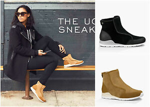 New-UGG-BNIB-150-Leather-Fur-Laurelle-Women-039-s-High-Top-Shoes-Sneaker-Boots-Sale