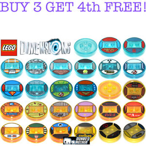 OEM-Lego-Dimensions-Tag-Base-Disc-Toy-Game-Minifig-Sonic-Harry-Potter-Sloth-NEW