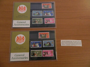 2 X 1970 GENERAL ANNIVERSARIES NORMAL AND ERRORS PRESENTATION PACKS IN MINT COND