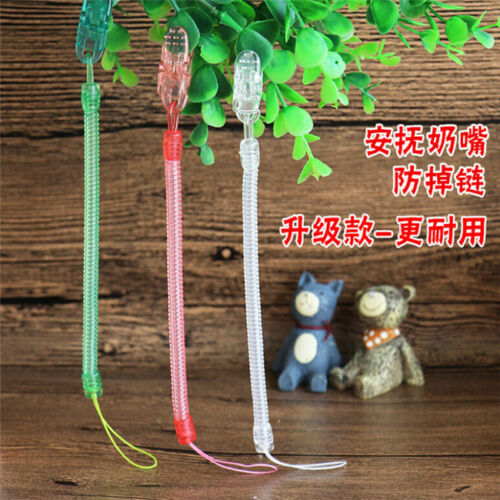 Baby Newborn Girl Pacifier Clip Chain Dummy Soother Nipple Holder Strap LH