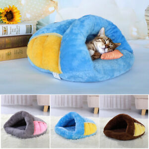 Cat-Cave-Bed-Pink-Pet-Puppy-Dog-Soft-Warm-Cave-House-Kennel-Winter-Sleeping-Nest