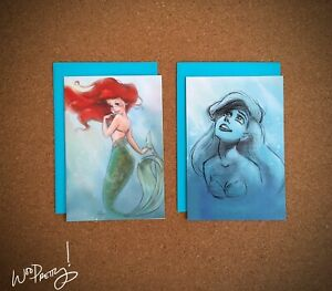 2013-Art-of-Ariel-Disney-Designer-Little-Mermaid-Note-Cards-Steve-Thompson-Art