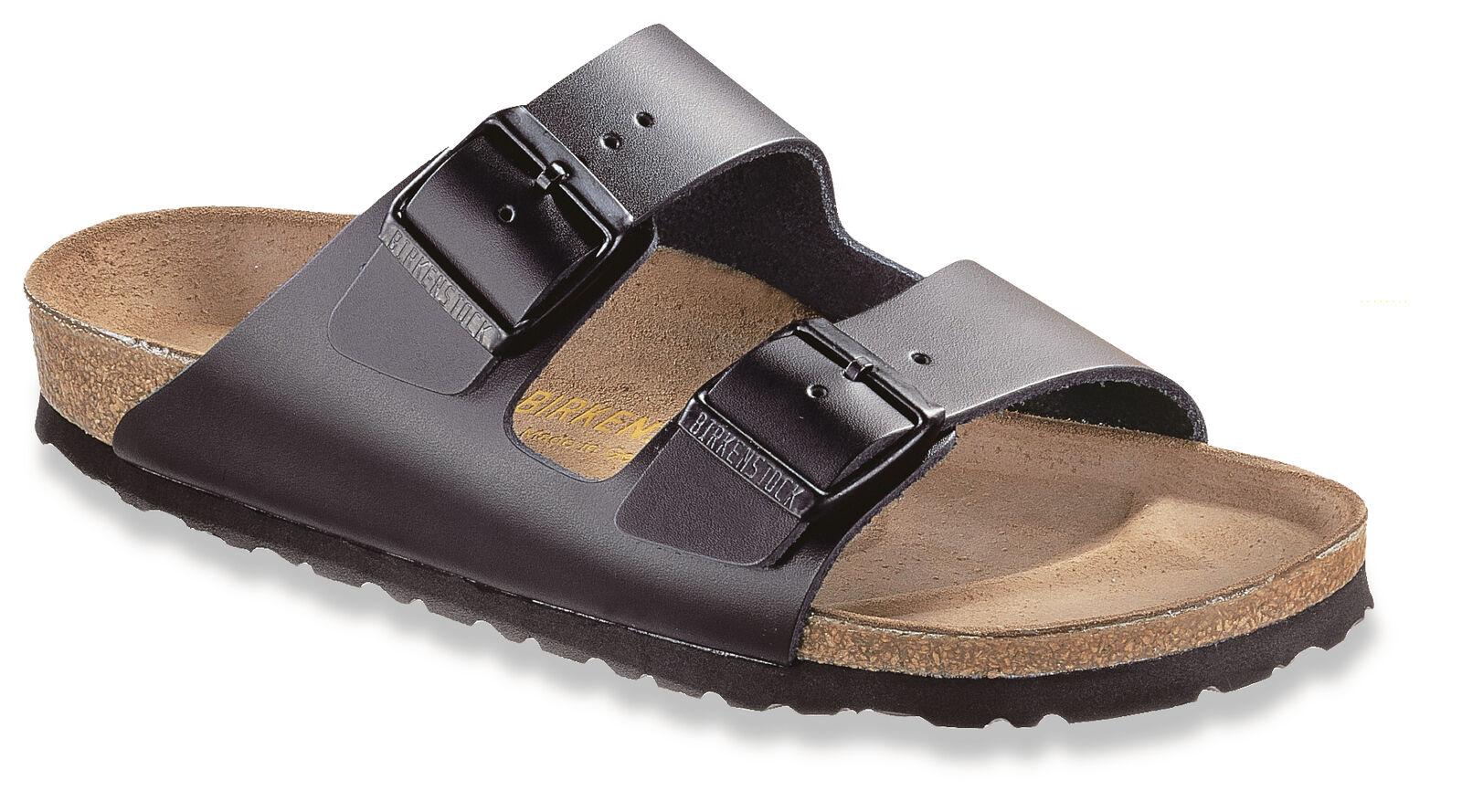 Birkenstock Schlappen Arizona Glattleder Unisex Schuhe Schlappen Birkenstock Sandalen Fußbett NEU 2605bf