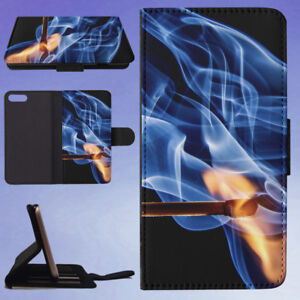BLUE-AND-YELLOW-FLAME-PAINTING-FLIP-WALLET-CASE-FOR-APPLE-IPHONE-PHONES