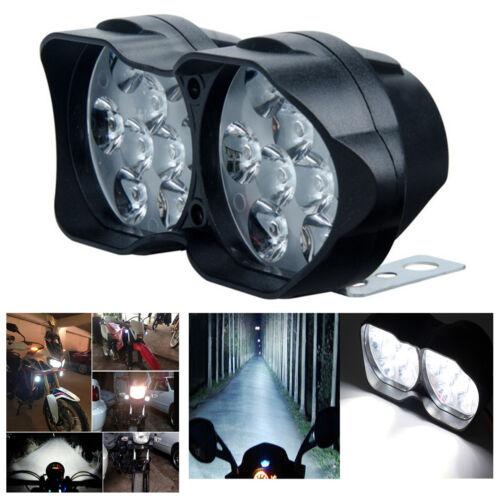 Motorcycle Headlight Bulb LED Spotlight 18LED 30W 6500K Fog Spot Lamp Waterproof