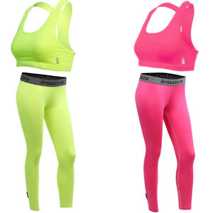 neon green or pink gym outfit set sports bra  leggings