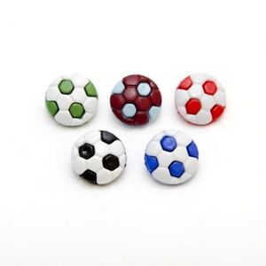 Burgundy 10 x CLARET /& BLUE NOVELTY FOOTBALL SHAPED BUTTONS size 24L 15mm