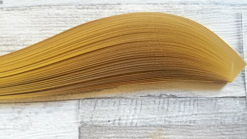 pearlescent gold 200 Quilling paper strips  5mm wide