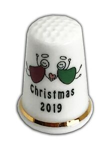 Personalised-Christmas-Angels-2019-Bone-China-Thimble-Christmas-Stocking-Filler