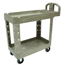 Rubbermaid Commercial 450088bg Heavy Duty 2 Shelf Utility Cart Beige New