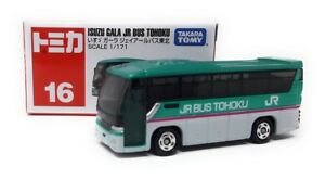 Tomica-DIECAST-coche-modelo-bus-1-171-n-16-Isuzu-gala-JR-Bus-Tohoku-Takara-Tomy