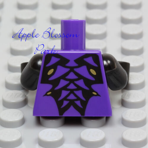 NEW Lego Ninjago PURPLE MINIFIG TORSO w//Black /& Gold Spikes Python Snake Scales