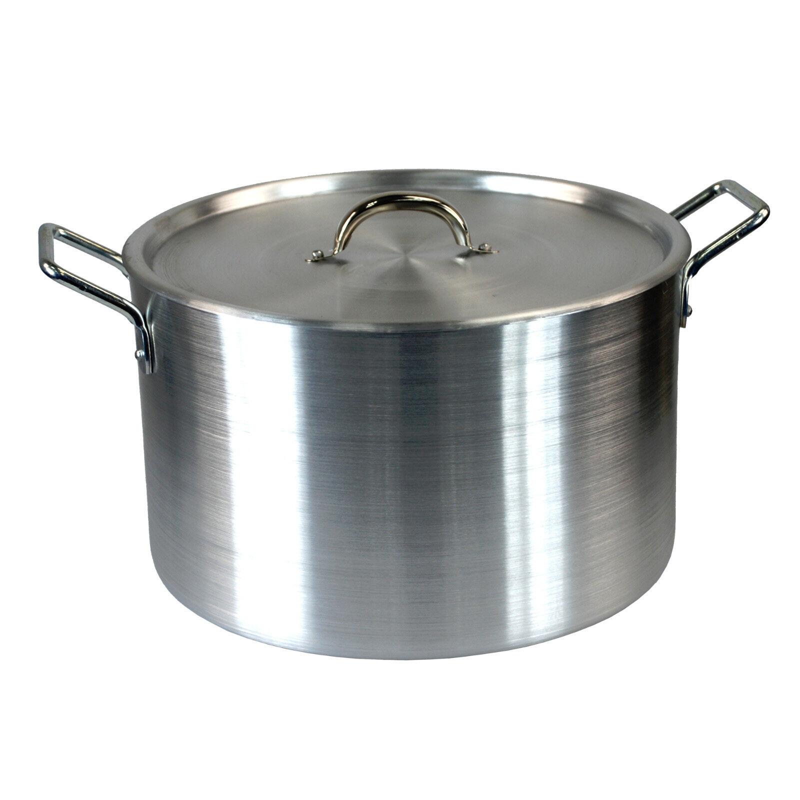 Super large 18  casserole Aluminium Cuisine Cuisson Pan Casserole Couvercle de Casserole valeur