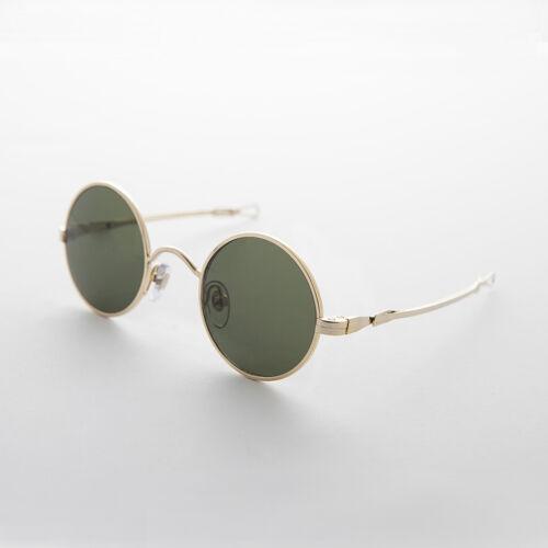 swazi Verstellbar Schiebe Tempel Gold Rund John Lennon Vintage Sonnenbrille W