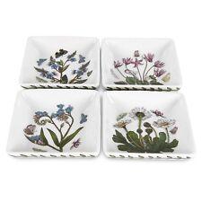 Portmeirion Botanic Garden 3-Inch Square Mini Dishes, Set of 4, New