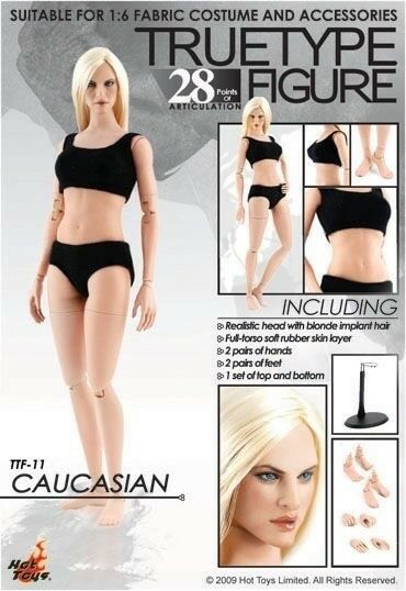 Hot  Toys TTF11 CAUCASIAN FEMALE Basic Figure  le magasin