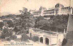 EVIAN-il-BAINS-Splendido-Hotel-Parc-et-la-Buvette-Cachat