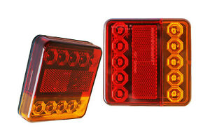 2-x-12V-LED-Rear-Tail-Turn-Indicator-Stop-Trailer-Chassis-Lorry-Lights-Lamps