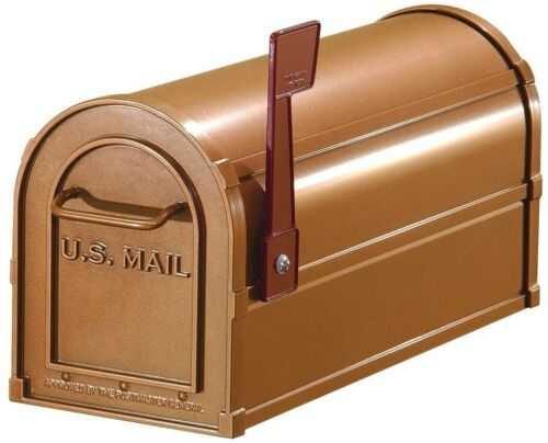 Mailbox Large Aluminum Post-Mount Magnetic Catch with Outgoing Mail Indicator